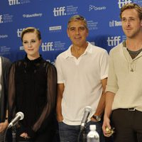Max Minghella, Evan Rachel Wood, George Clooney y Ryan Gosling presentan 'The ides of march' en Toronto