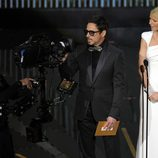 Robert Downey Jr. y Gwyneth Paltrow presentaron un Oscar 2012