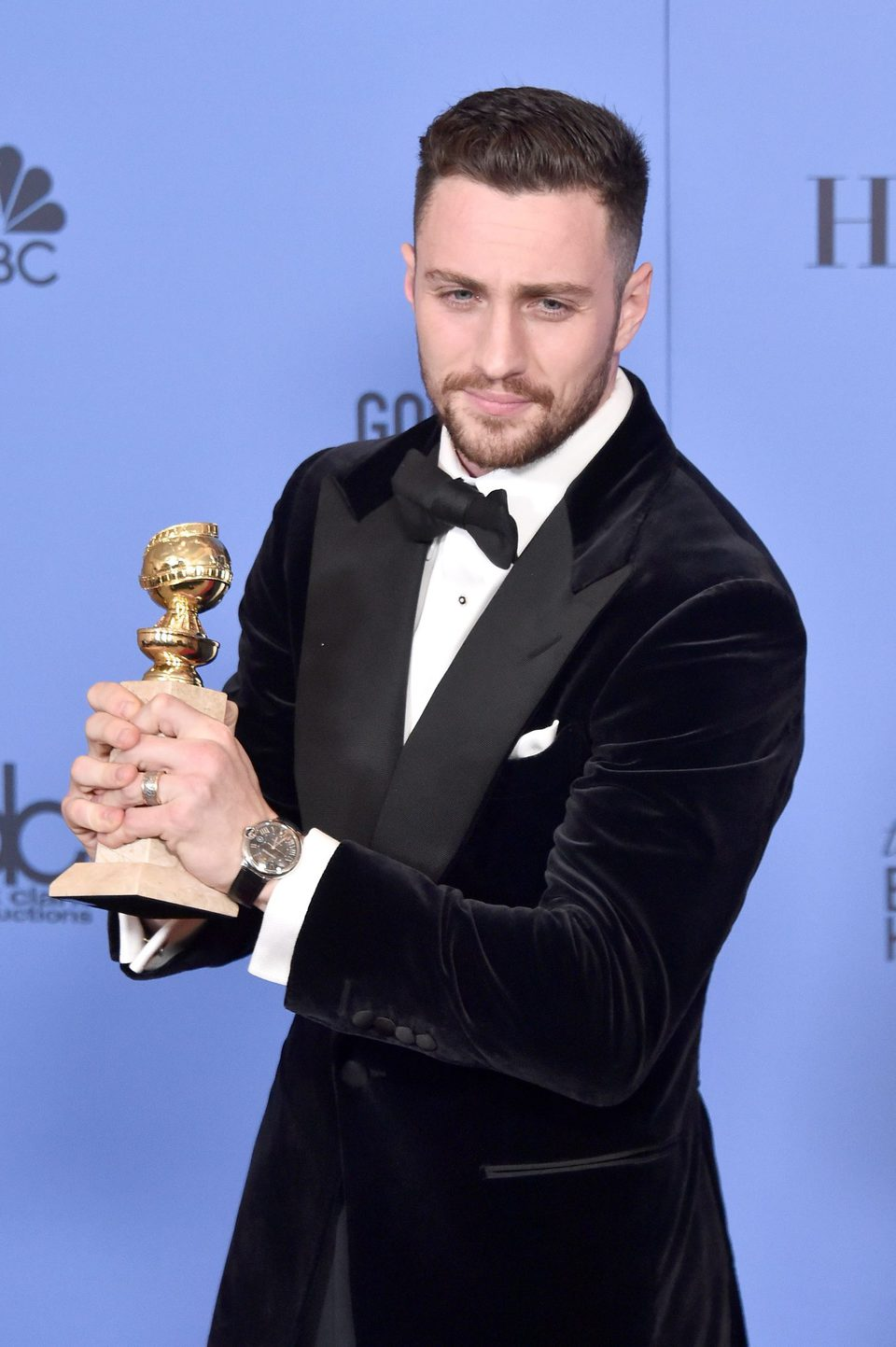 Aaron Taylor-Johnson after Golden Globes 2017 - Photos at ...