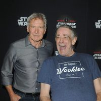 Harrison Ford and Peter Mayhew during the Star Wars Celebration