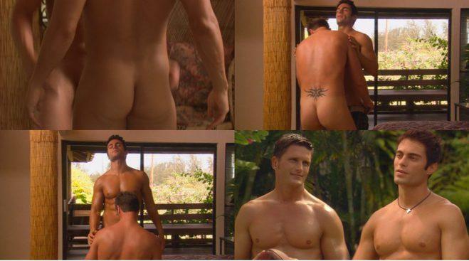 Belleza en topless en jeans en la televisión erótica de reino unido 7