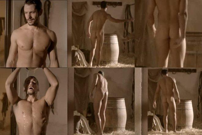 Alejandro Albarracín, desnudo, enseña el culo en 'Tierra de lobos'