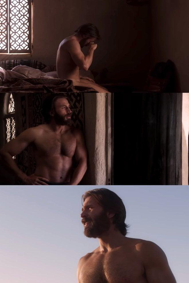 Chris Evans escenas desnudo y sin camiseta en 'Rescate en el Mar Rojo'