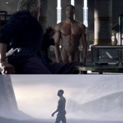 Yahya Abdul-Mateen II desnudo enseña el pene en 'Watchmen'