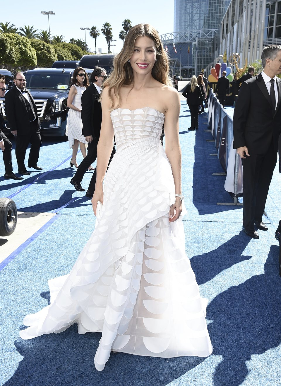 Jessica Biel en la alfombra roja de los Emmy 2018