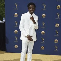 Caleb McLaughlin at the Emmys 2018 red carpet