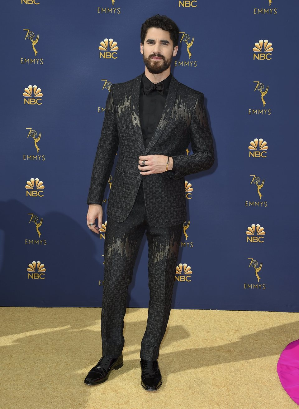 Darren Criss at the Emmys 2018 red carpet
