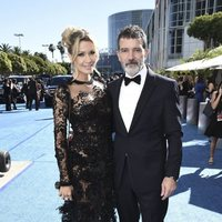 Antonio Banderas and Nicole Kimpel at the Emmys 2018 red carpet