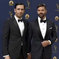 Ricky Martin and his husband at the Emmys 2018