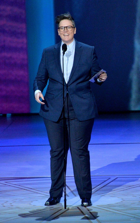 Hannah Gadsby, durante su monólogo en los Emmys 2018