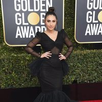 Francia Raisa at the Golden Globes 2019 red carpet