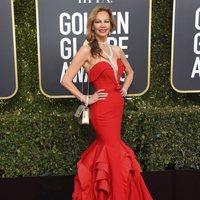 Margaret Gardiner en la alfombra roja de los Globos de Oro 2019