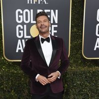 Ryan Seacrest at the Golden Globes 2019 red carpet