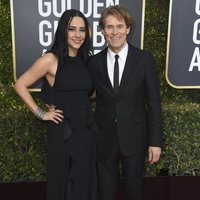 Willem Dafoe and Giada Colagrande  on the red carpet at the Golden Globes 2019