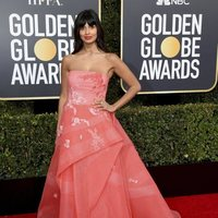 Jameela Jamil at the Golden Globes 2019 red carpet
