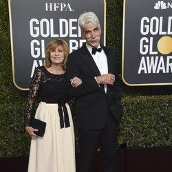 Sam Elliott y Katharine Ross en la alfombra roja de los Globos de Oro 2019