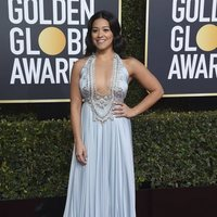 Gina Rodriguez on the red carpet at the Golden Globes 2019