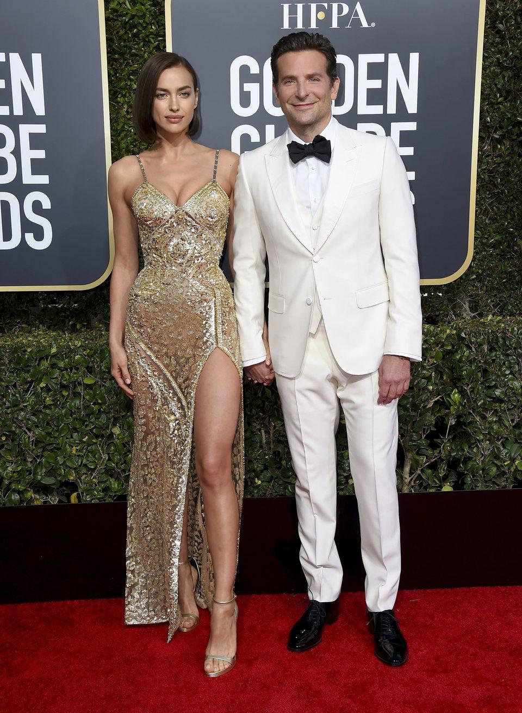 Bradley Cooper y Irina Shayk en la alfombra roja de los Globos de Oro 2019