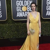 Claire Foy at the Golden Globes 2019 red carpet