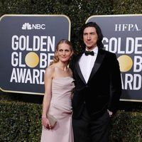 Adam Driver and Joanne Tucker at the Golden Globes 2019 red carpet