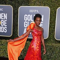 Danai Gurira at the Golden Globes 2019 red carpet