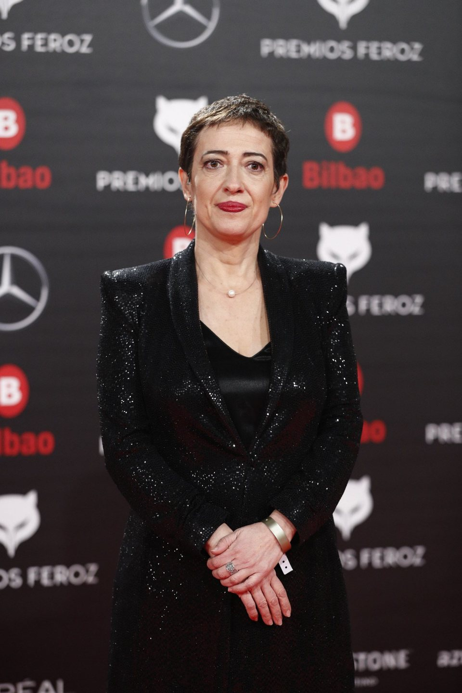 Maria Guerra, presidenta de la AICE, en la alfombra roja de los Premios Feroz 2019