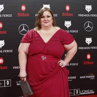 Itziar Castro en la alfombra roja de los Premios Feroz 2019