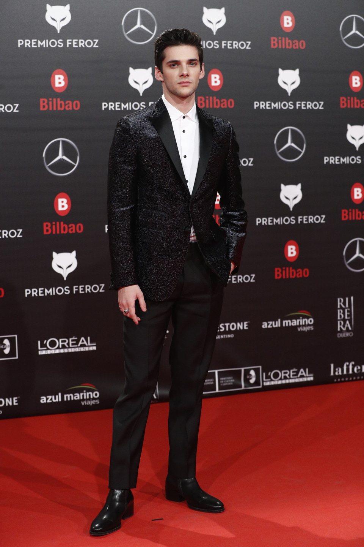 Álvaro Rico en la alfombra roja de los Premios Feroz 2019