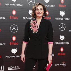 Ana Milán en la alfombra roja de los Premios Feroz 2019