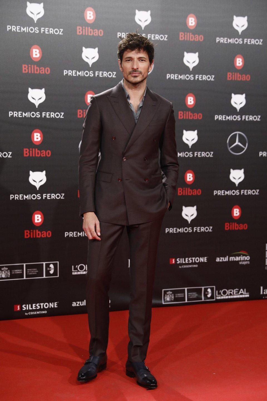 Andrés Velencoso en la alfombra roja de los Premios Feroz 2019