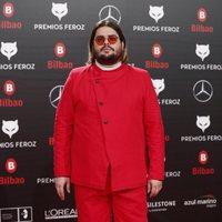 Brays Efe en la alfombra roja de los Premios Feroz 2019