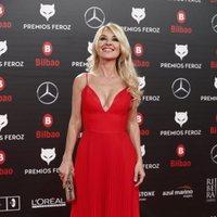 Cayetana Guillén-Cuervo en la alfombra roja de los Premios Feroz 2019