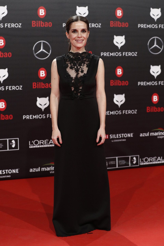 Núria Gago en la alfombra roja de los Premios Feroz 2019