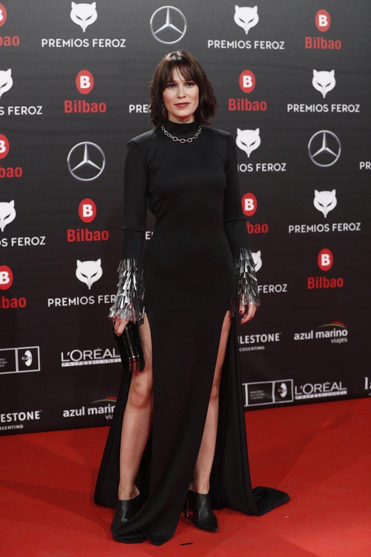 Celia Freijeiro en la alfombra roja de los Premios Feroz 2019