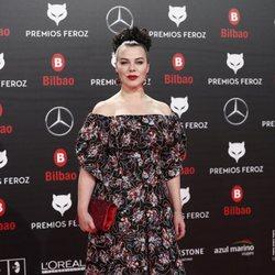Debi Mazar en la alfombra roja de los Premios Feroz 2019