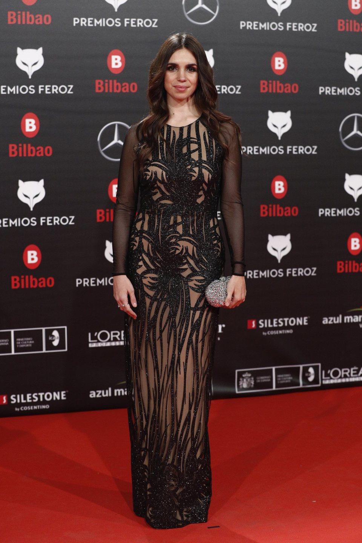 Elena Furiase en la alfombra roja de los Premios Feroz 2019