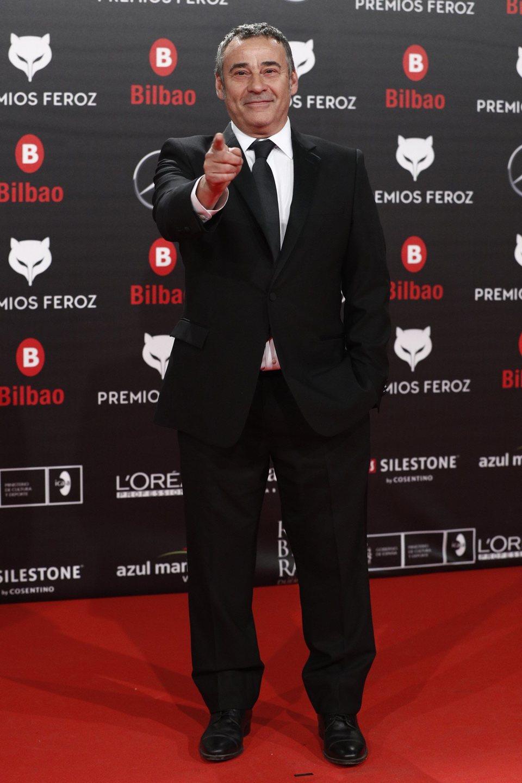 Eduard Fernández en la alfombra roja de los Premios Feroz 2019