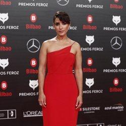 Inma Cuesta en la alfombra roja de los Premios Feroz 2019