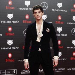 Eduardo Casanova en la alfombra roja de los Premios Feroz 2019
