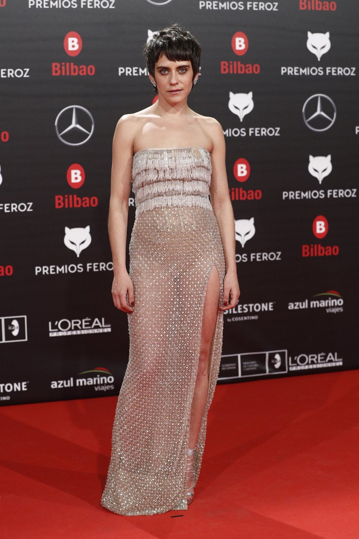 María León en la alfombra roja de los Premios Feroz 2019