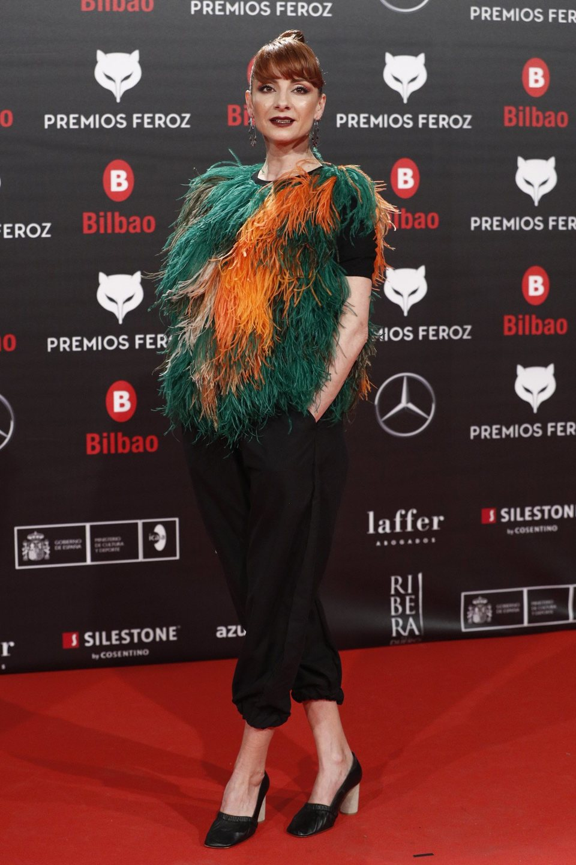 Najwa Nimri en la alfombra roja de los Premios Feroz 2019