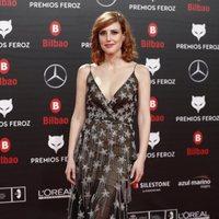 Natalia de Molina en la alfombra roja de los Premios Feroz 2019