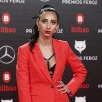 Zaida Romero en la alfombra roja de los Premios Feroz 2019