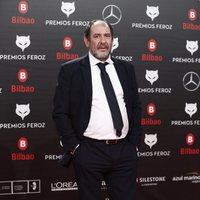 Karra Elejalde en la alfombra roja de los Premios Feroz 2019