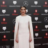 Sandra Escacena  en la alfombra roja de los Premios Feroz 2019