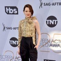 Emma Stone en la alfombra roja de los premios SAG 2019