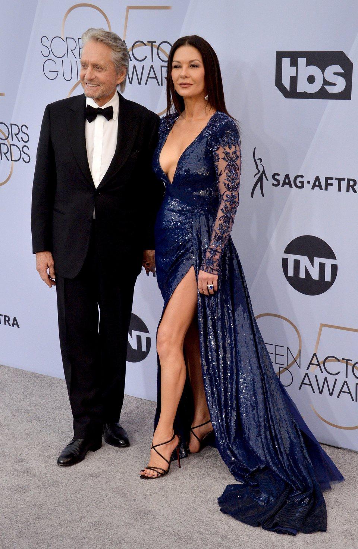 Michael Douglas y Catherine Zeta-Jones en los premios SAG 2019