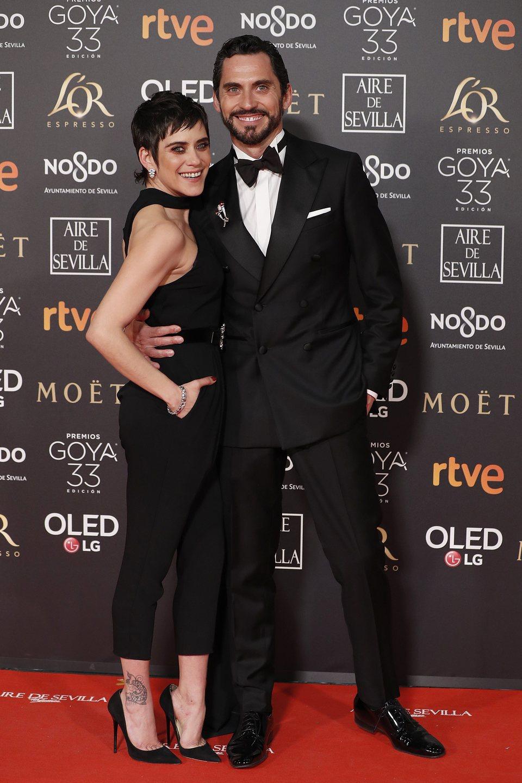 Paco y María León en los Premios Goya 2019