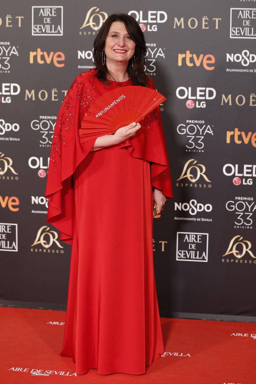 Adelfa Calvo en los Premios Goya 2019