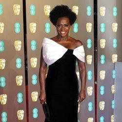 Viola Davis en la alfombra roja de los BAFTA 2019